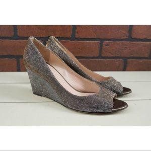 KATE SPADE Radiant Sparkle Wedge Heels Size 8